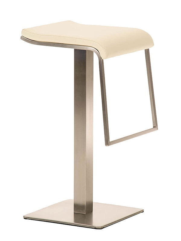 Barová židle s nerezovou podnoží Mangle