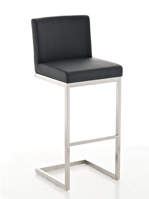 Barová židle s nerezovou podnoží Pride černá