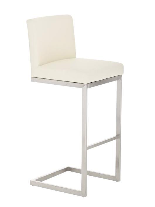Barová židle s nerezovou podnoží Pride hnědá