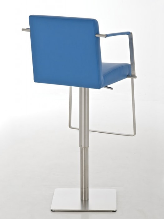 Barová židle s nerezovou podnoží Santi modrá