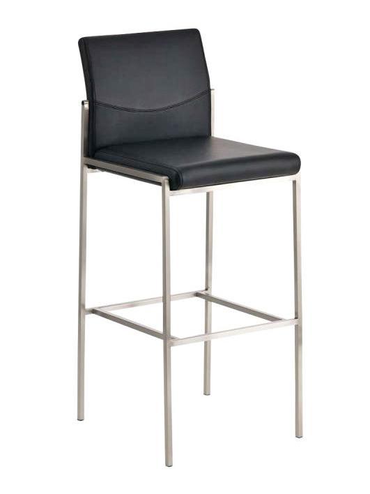 Barová židle s nerezovou podnoží Timber