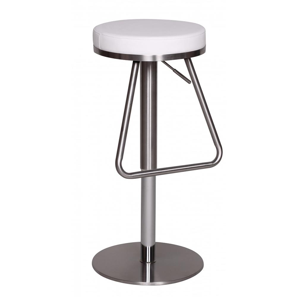 Barová židle s nerezovou podnoží Treasure, bílá