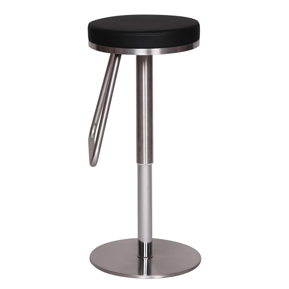 Barová židle s nerezovou podnoží Treasure, černá
