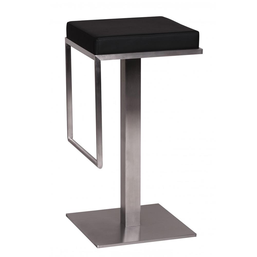 Barová židle s nerezovou podnoží Wella, černá