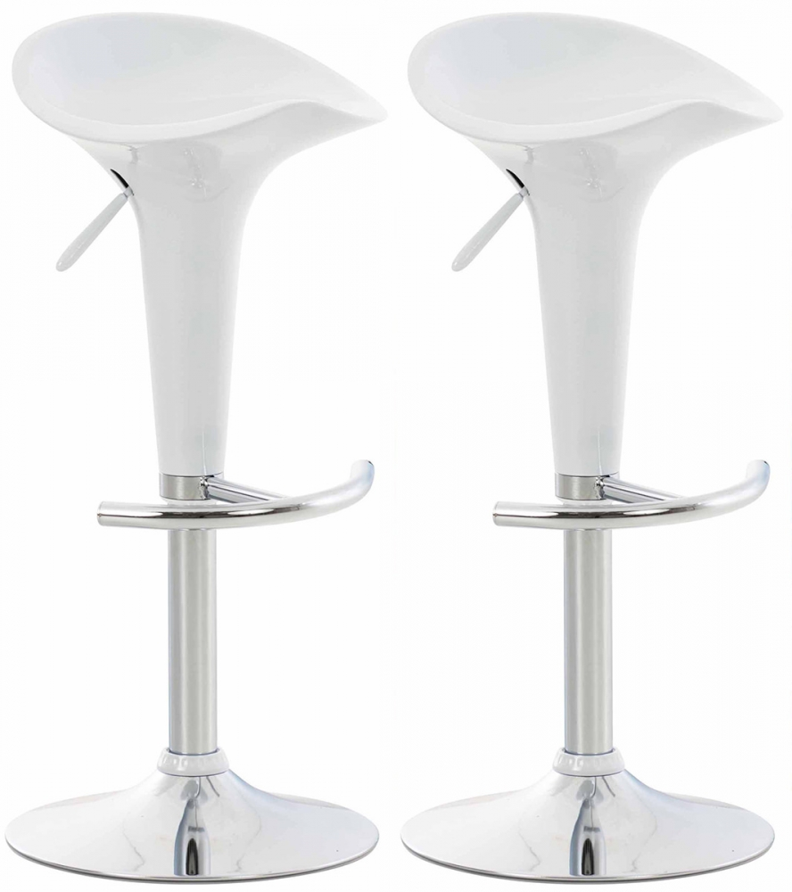 Barová židle Saddie (SET 2 ks), bílá
