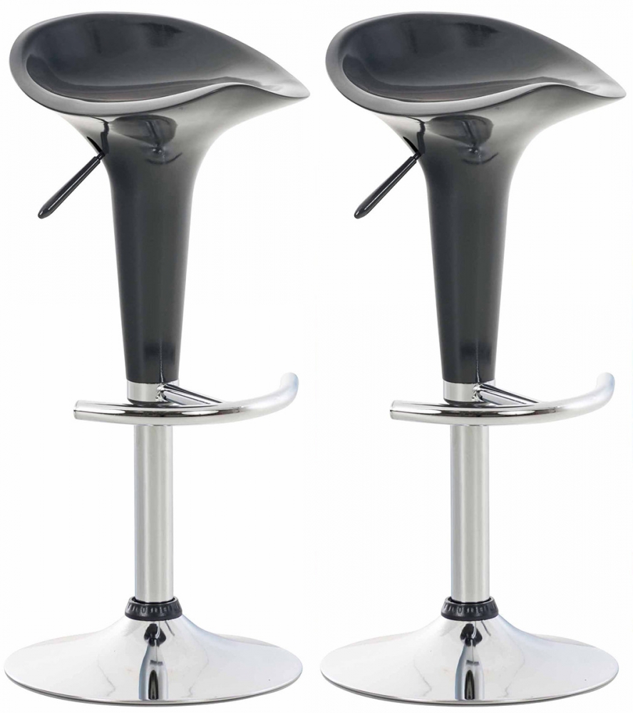 Barová židle Saddie (SET 2 ks), šedá