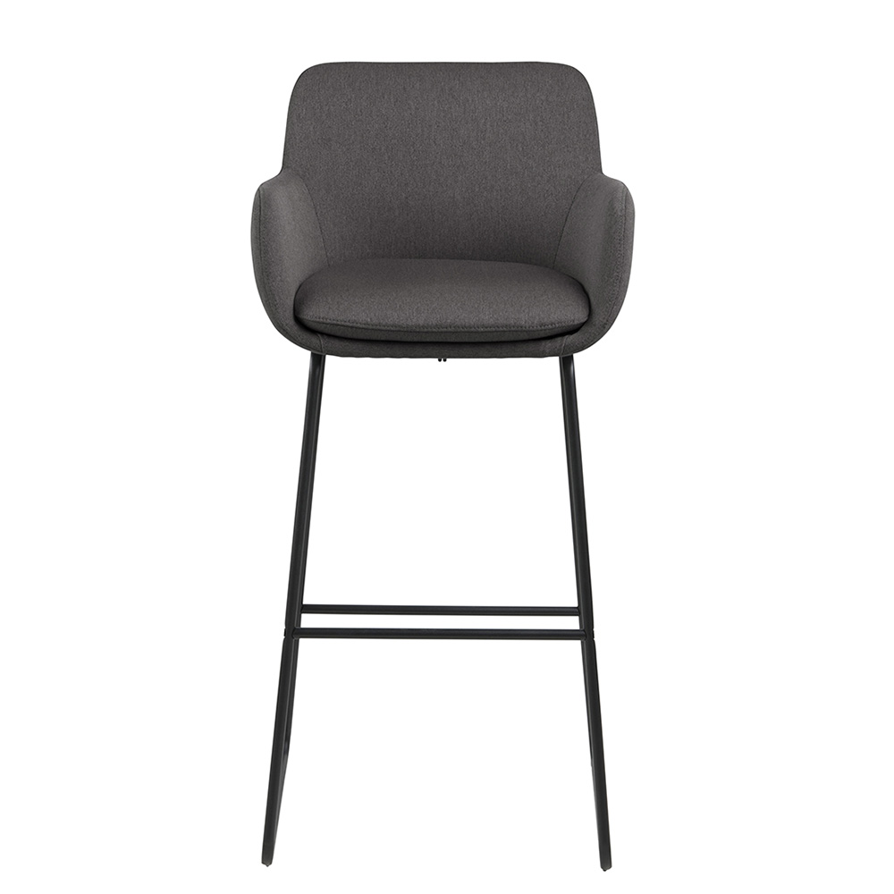 Barová židle Sarah (SET 2 ks), tmavě šedá
