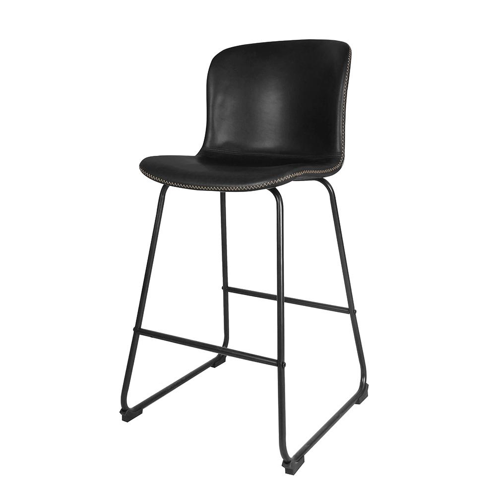 Barová židle Serena (SET 2 ks), vintage černá