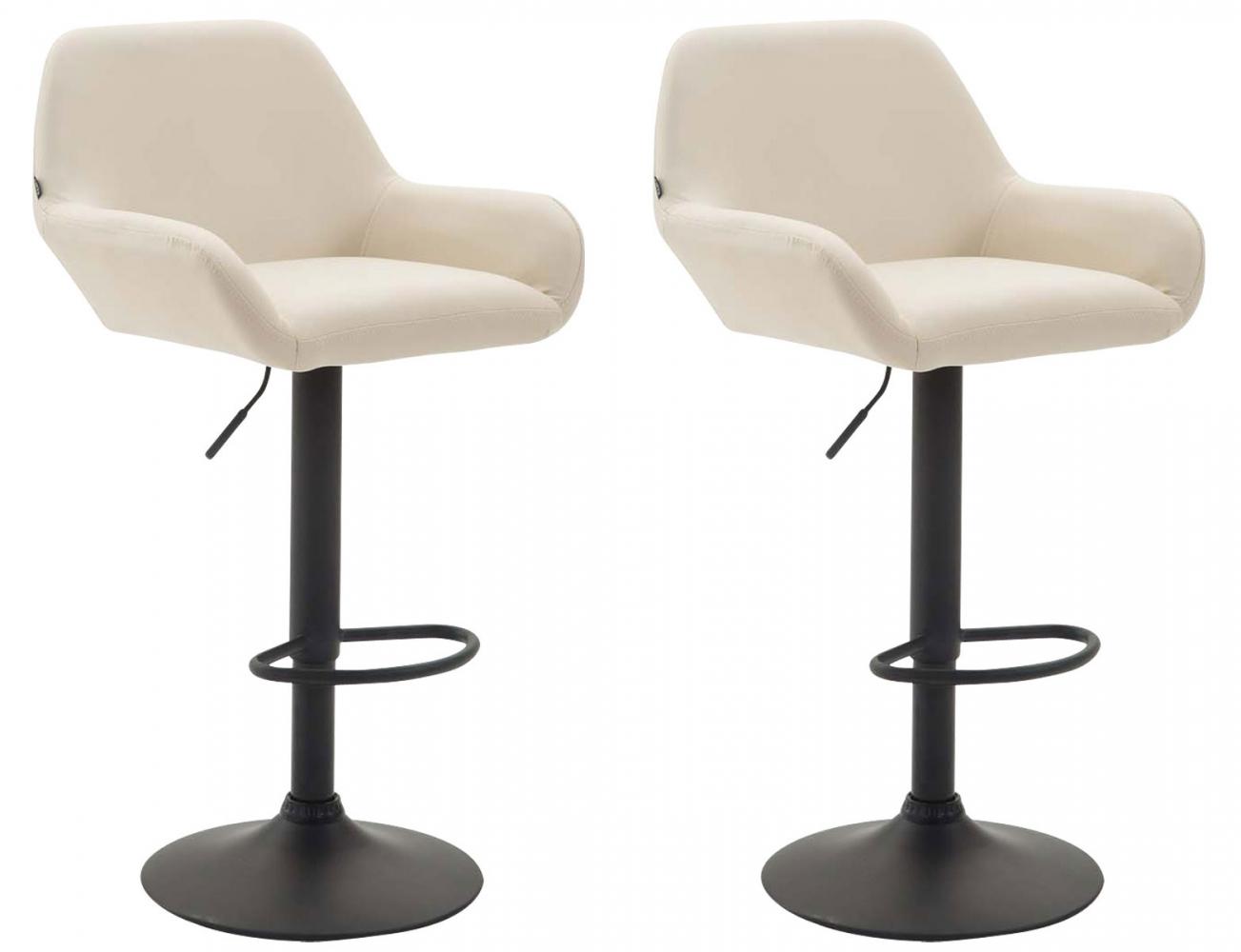 Barová židle Sharon (SET 2 ks), krémová