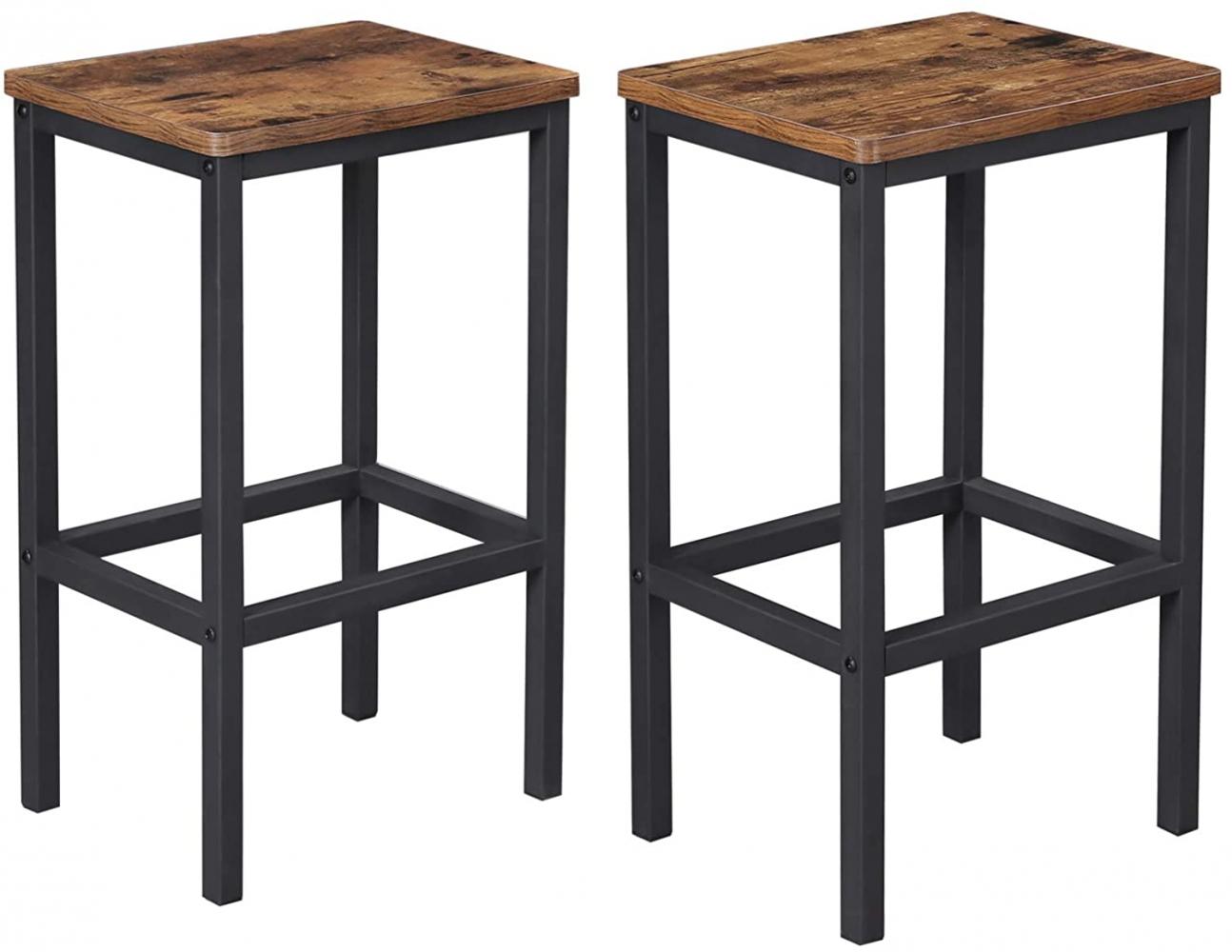Barová židle Stella (SET 2 ks), hnědá / černá