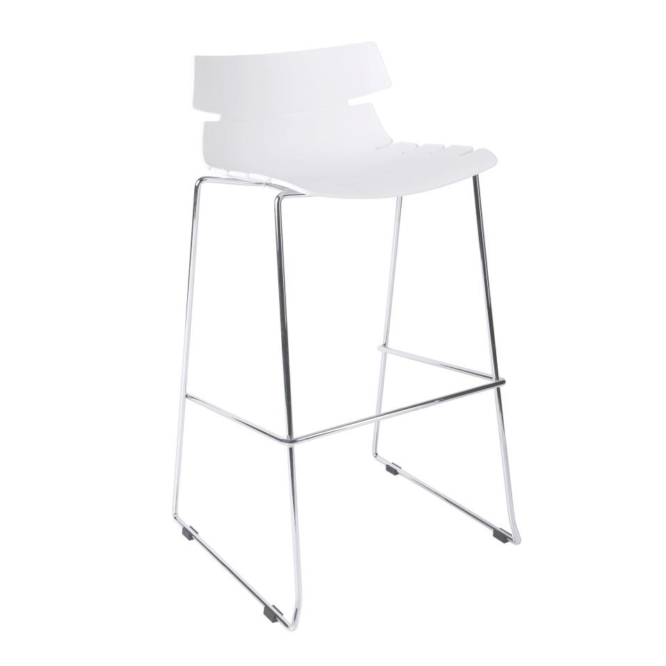 Barová židle Stolen, bílá