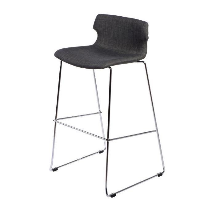 Barová židle Stolen čalouněná, grafitová