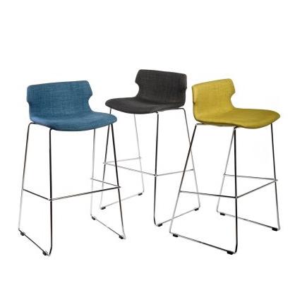Barová židle Stolen čalouněná, modrá