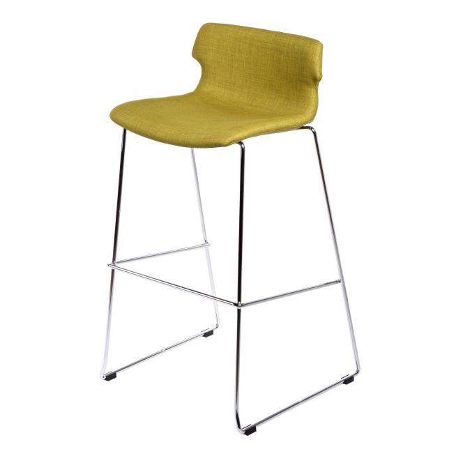 Barová židle Stolen čalouněná, olivová