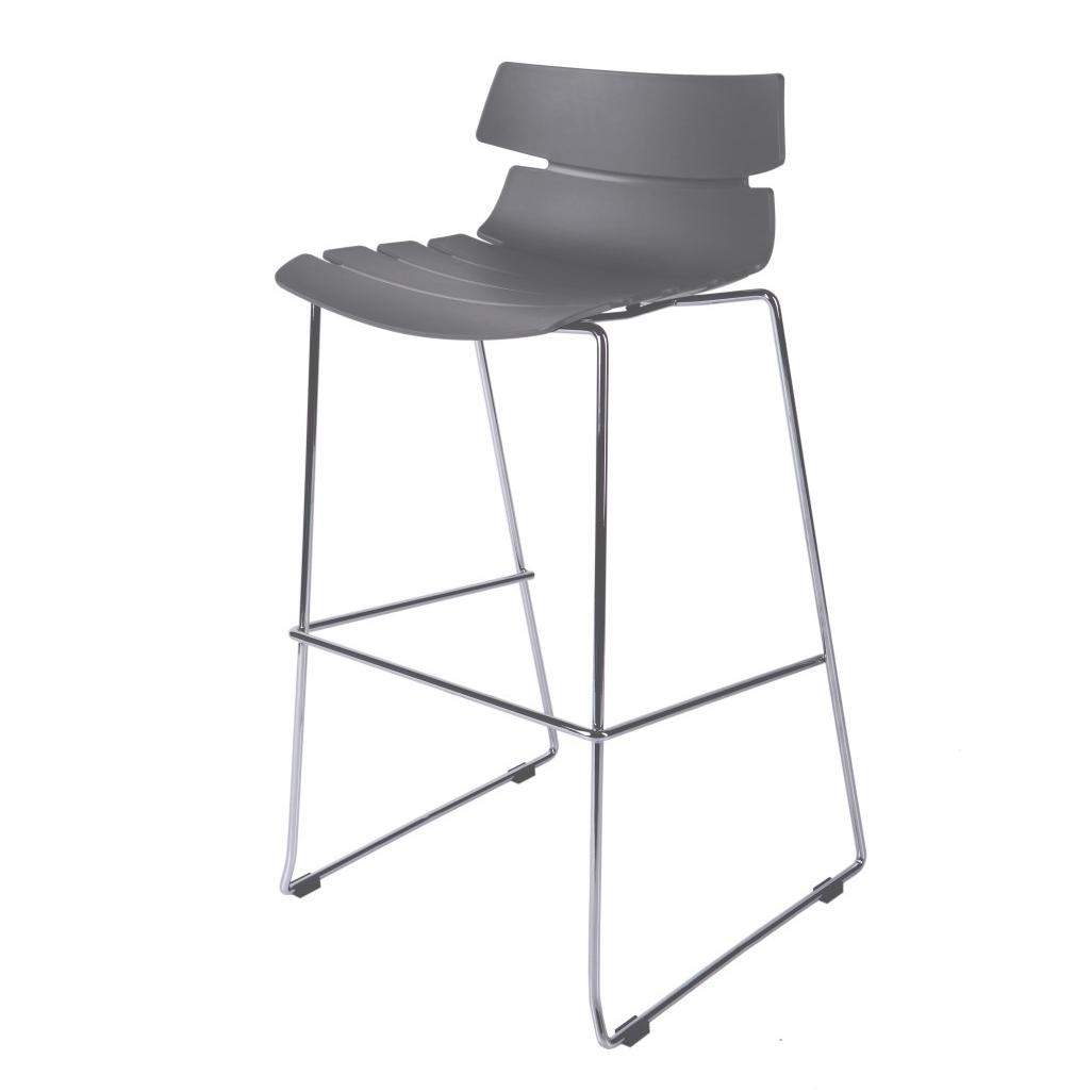 Barová židle Stolen, šedá