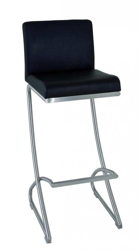 Barová židle Tabea, 98 cm, nerez / černá