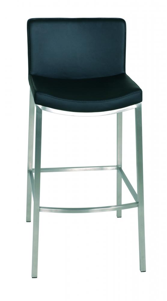 Barová židle Talona, 95 cm, nerez / černá