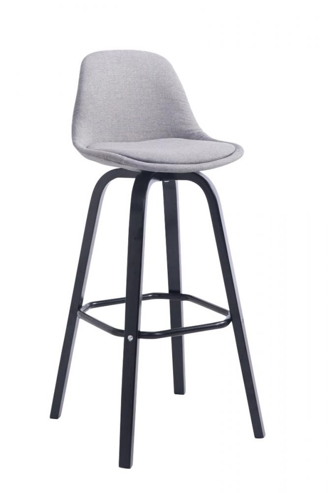 Barová židle Taris, světle šedá / černá