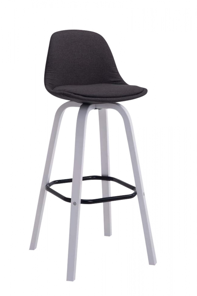 Barová židle Taris, tmavě šedá / bílá
