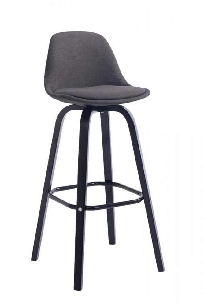 Barová židle Taris, tmavě šedá / černá
