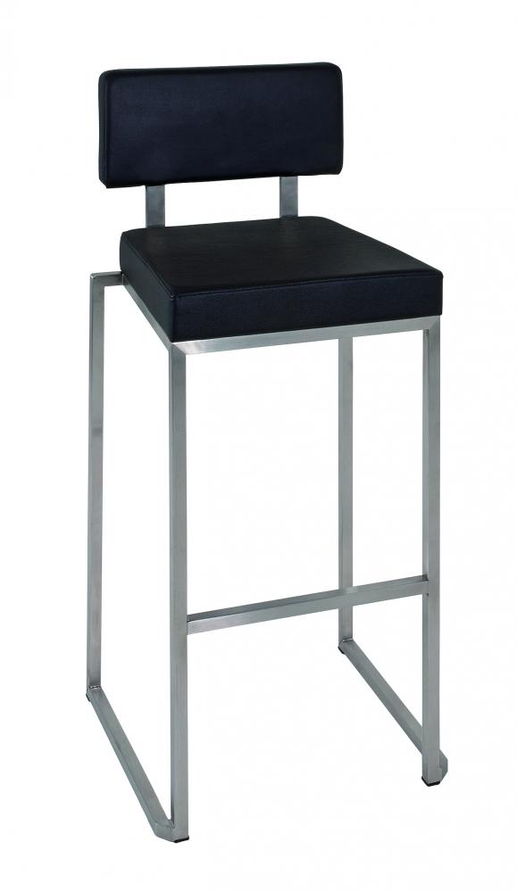 Barová židle Tavia, 101 cm, nerez / černá