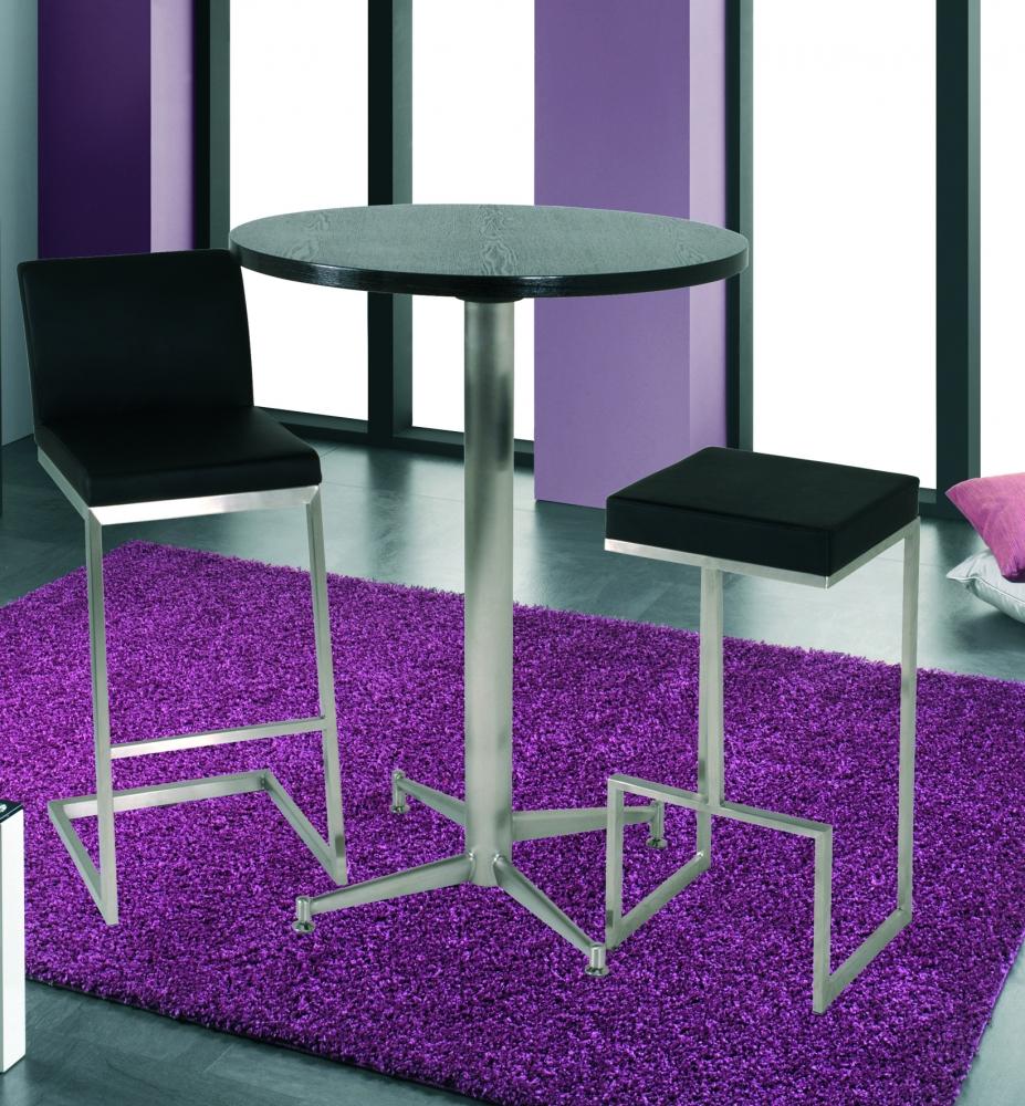 Barová židle Tega, 103 cm, nerez / černá