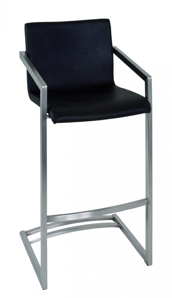 Barová židle Tesa, 100 cm, nerez / černá