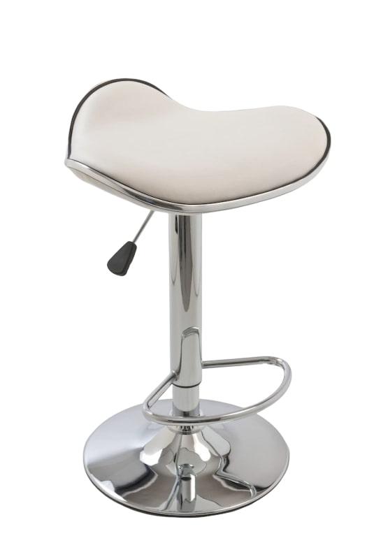 Barová židle Vega bez opěráku (SET 2 ks) krémová