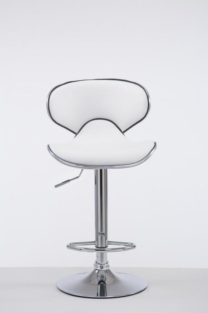 Barová židle Vega I., syntetická kůže, bílá