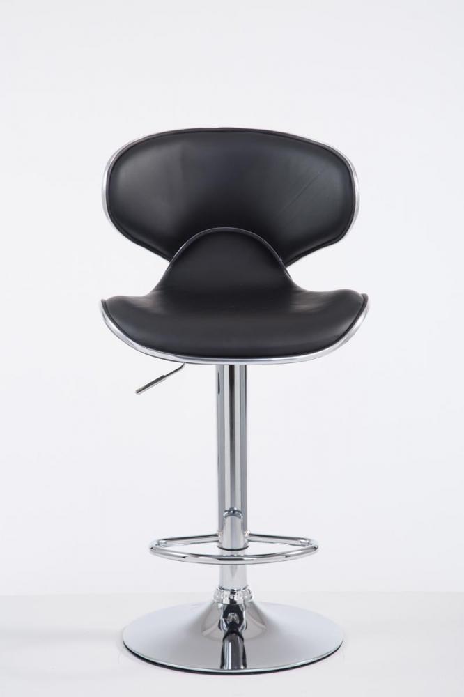 Barová židle Vega I., syntetická kůže, černá