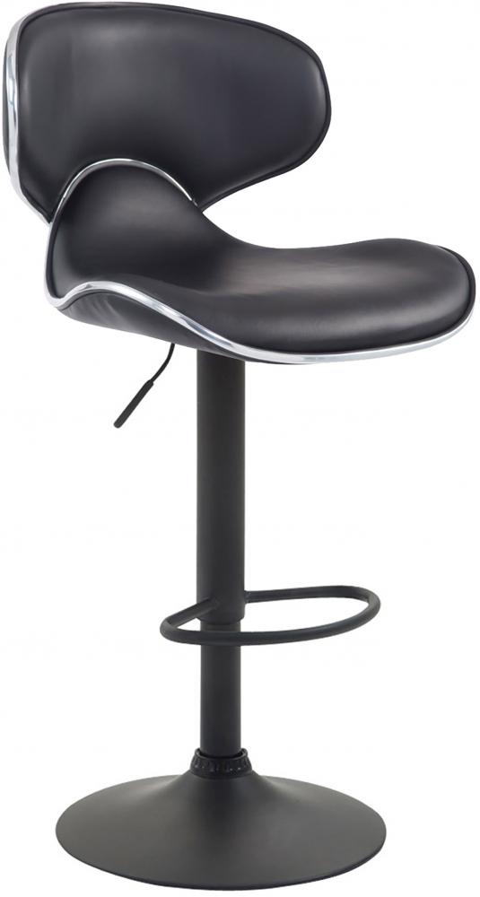 Barová židle Vega II., syntetická kůže, černá