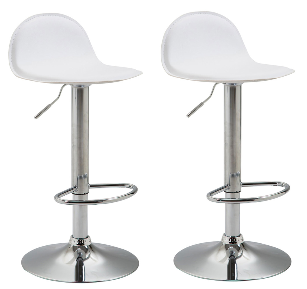 Barová židle Verta (SET 2 ks), bílá
