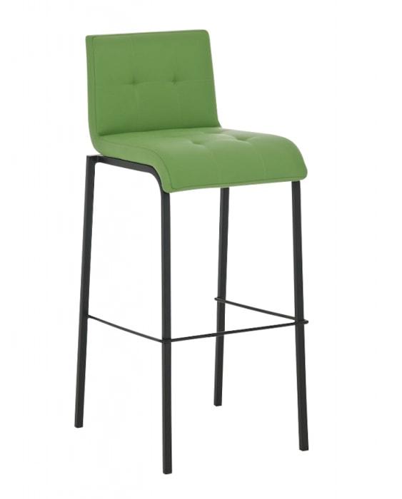 Barová židle Viola s černou podnoží (SET 2 ks) modrá