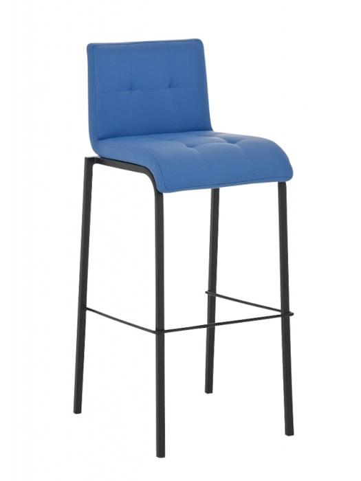 Barová židle Viola s černou podnoží (SET 2 ks) černá