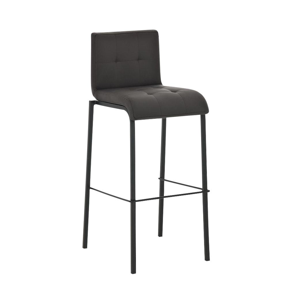 Barová židle Viola s černou podnoží (SET 2 ks) hnědá