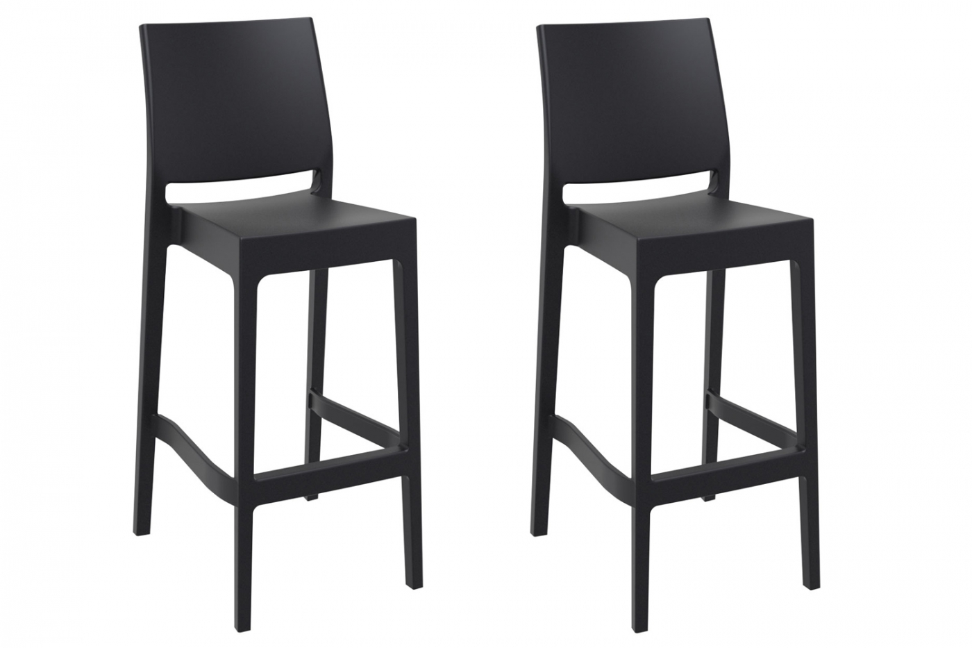 Barová židle Viola (SET 2 ks), černá