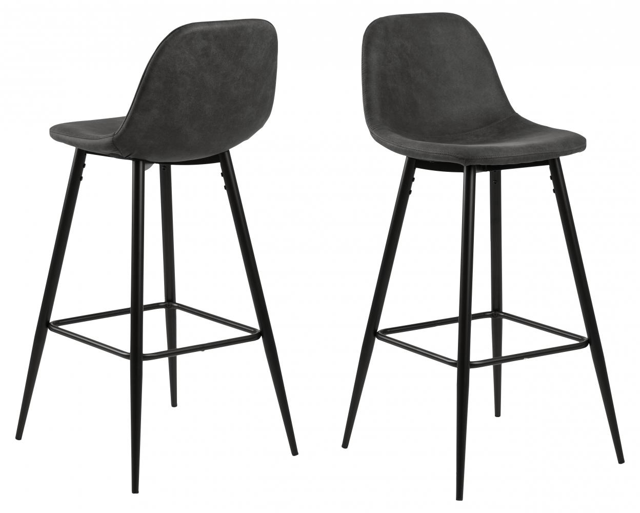 Barová židle Wanda (SET 2 ks), antracitová