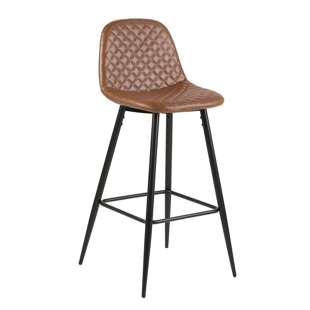 Barová židle Wanda (SET 2 ks), černá/koňaková