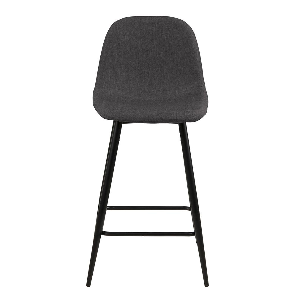 Barová židle Wanda (SET 2 ks), černá/šedá