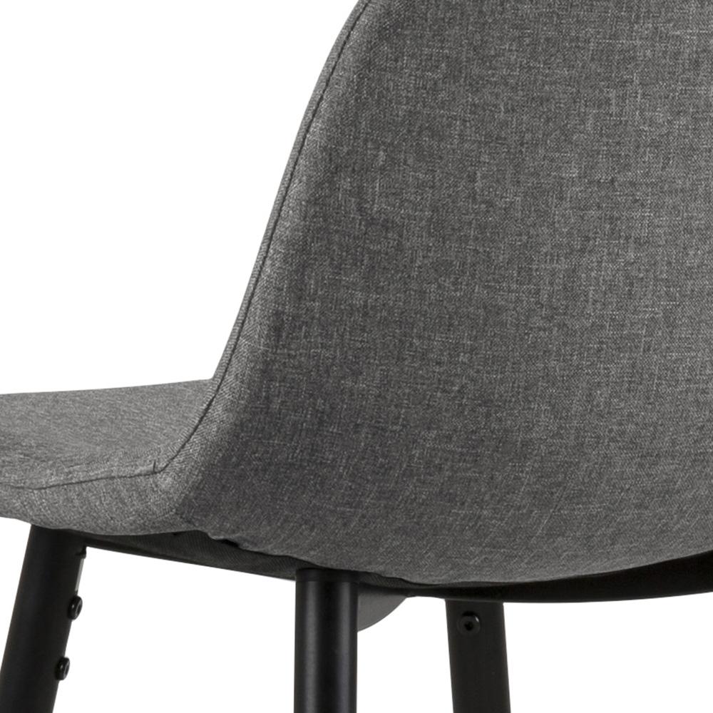 Barová židle Wanda (SET 2 ks), černá/sv. šedá