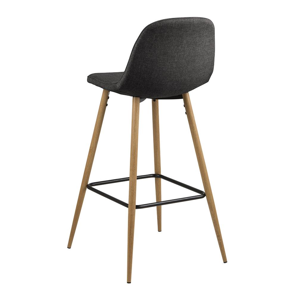 Barová židle Wanda (SET 2 ks), dub/šedá