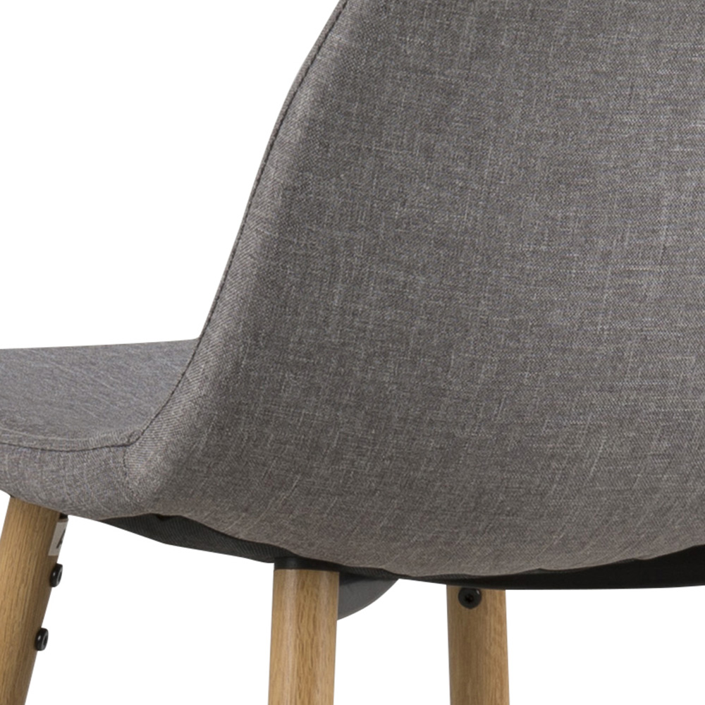 Barová židle Wanda (SET 2 ks), dub/sv. šedá