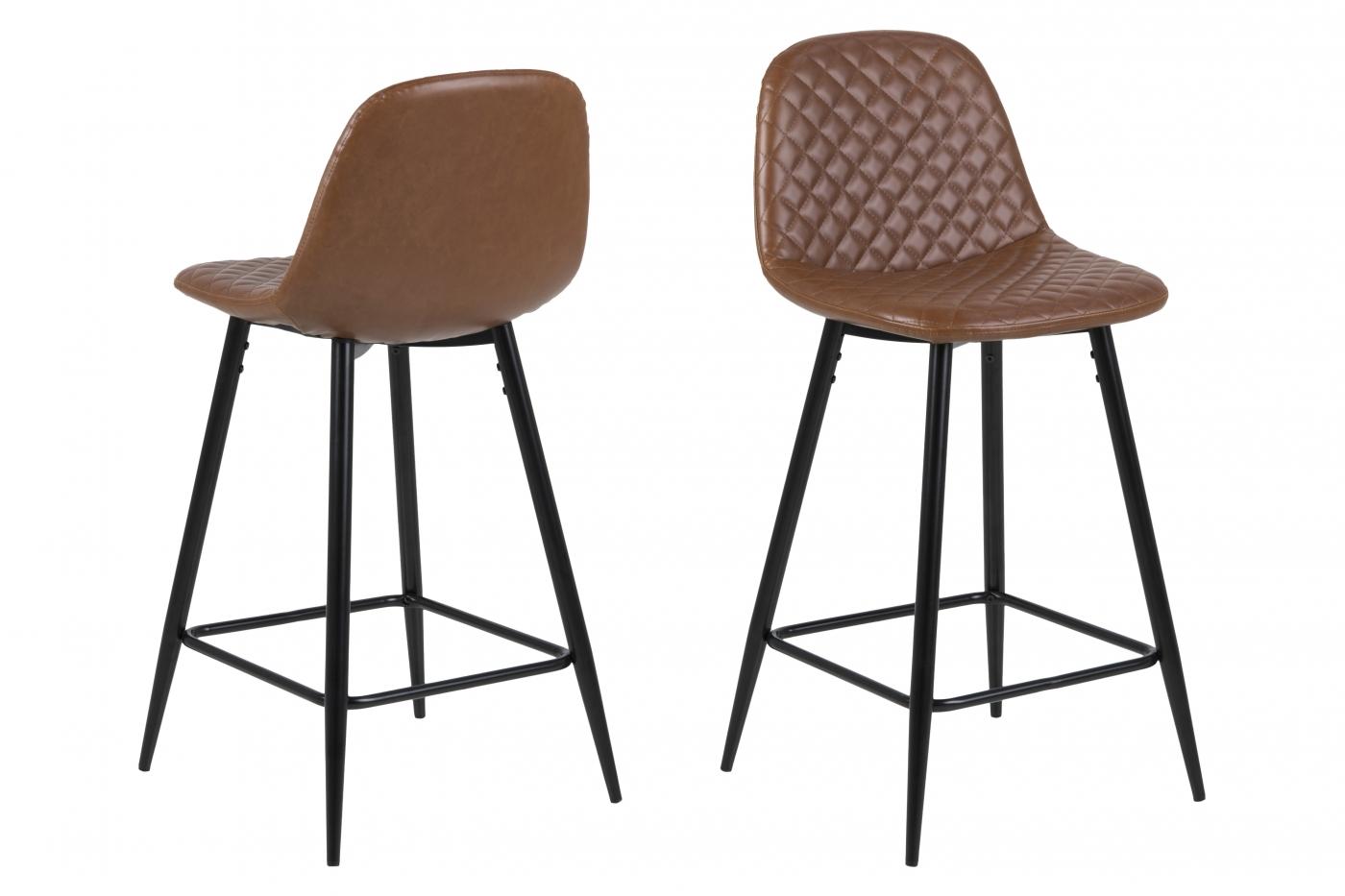 Barová židle Wanda (SET 2 ks), koňaková