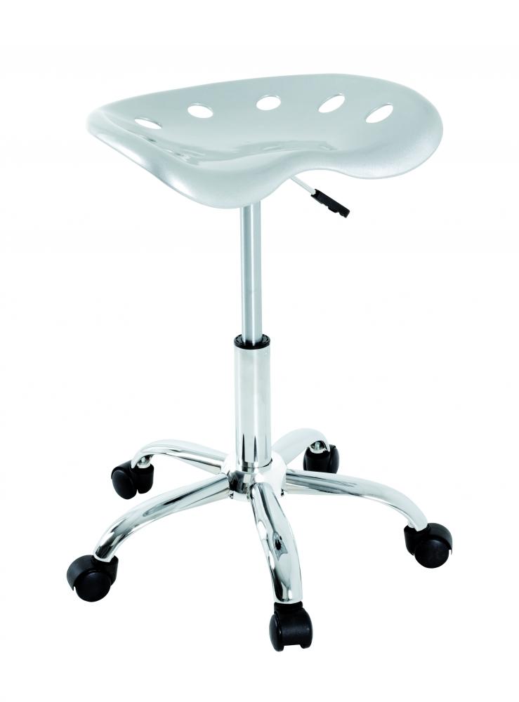 Barová židle Zola, 67 cm, stříbrná