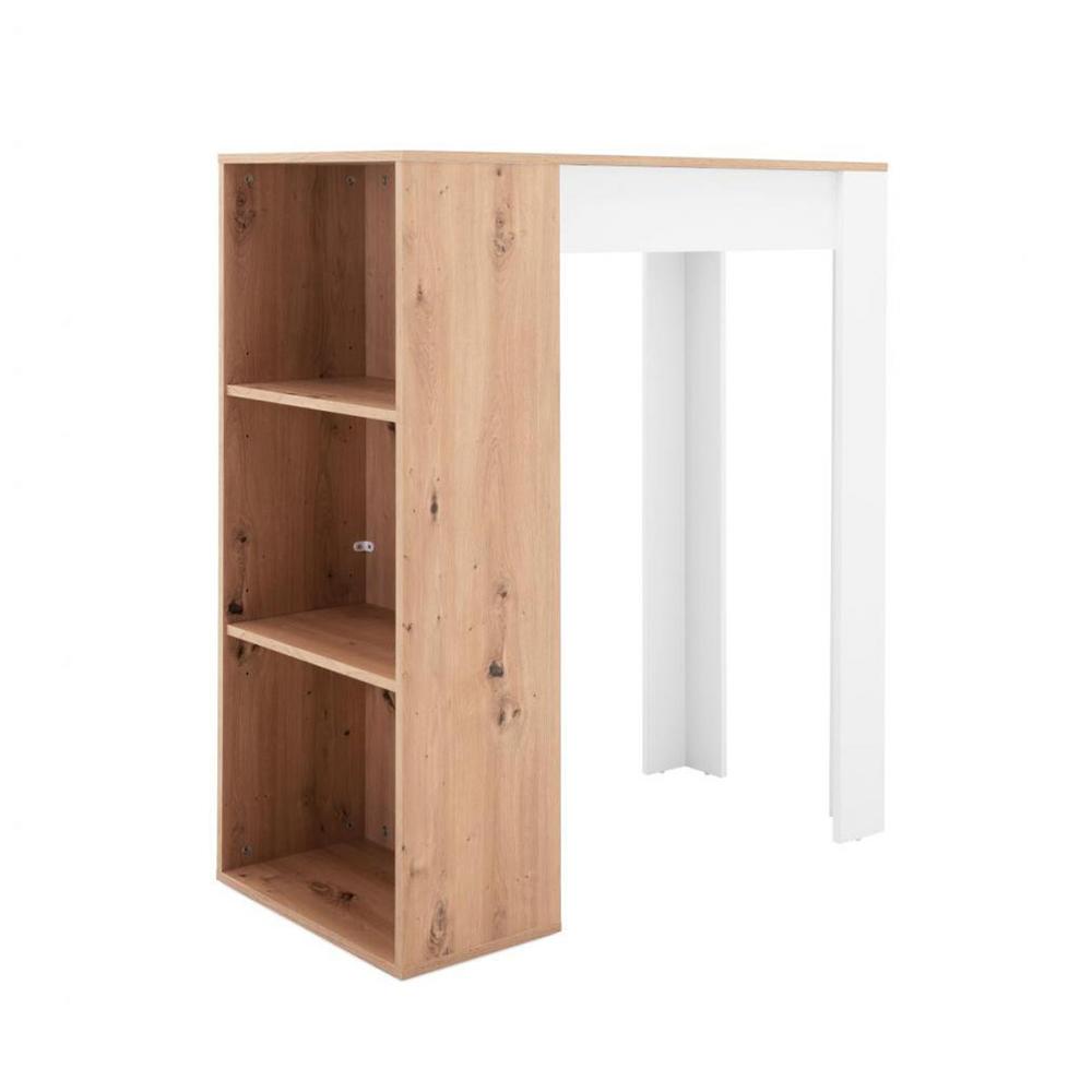 Barový stůl Austin, 100 cm, Artisan dub/bílá