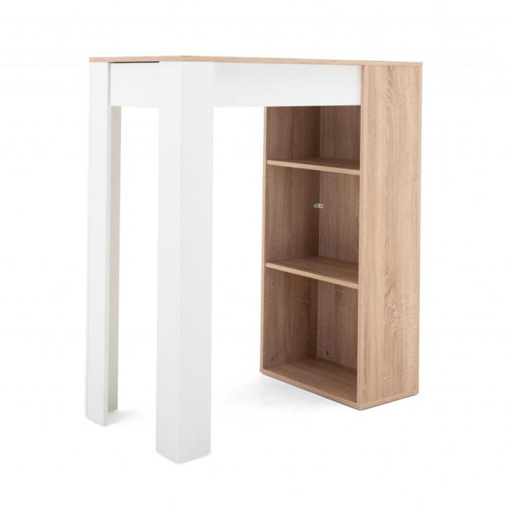 Barový stůl Austin, 100 cm, Sonoma dub/bílá