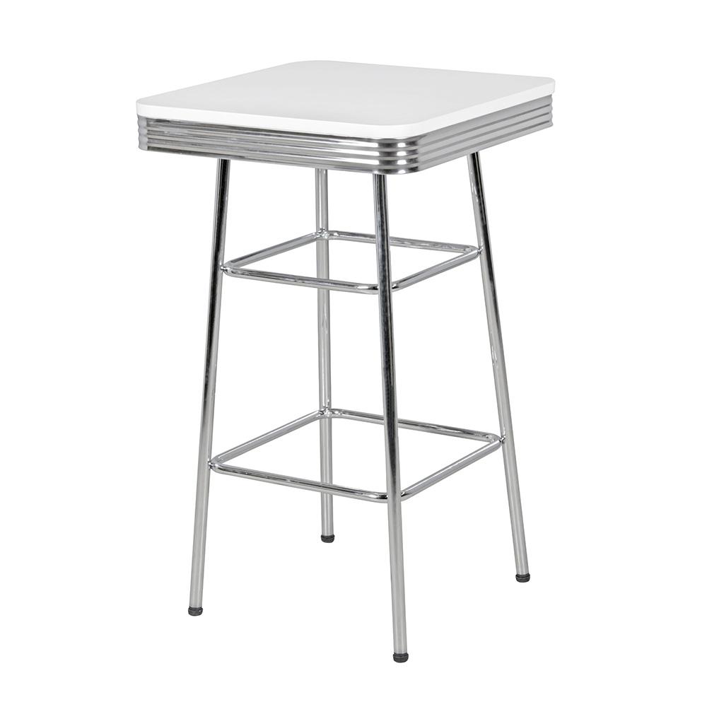 Barový stůl Elvis, 60 cm, bílá