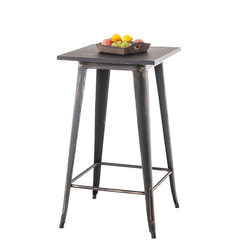 Barový stůl Goran, 106 cm, antik černá