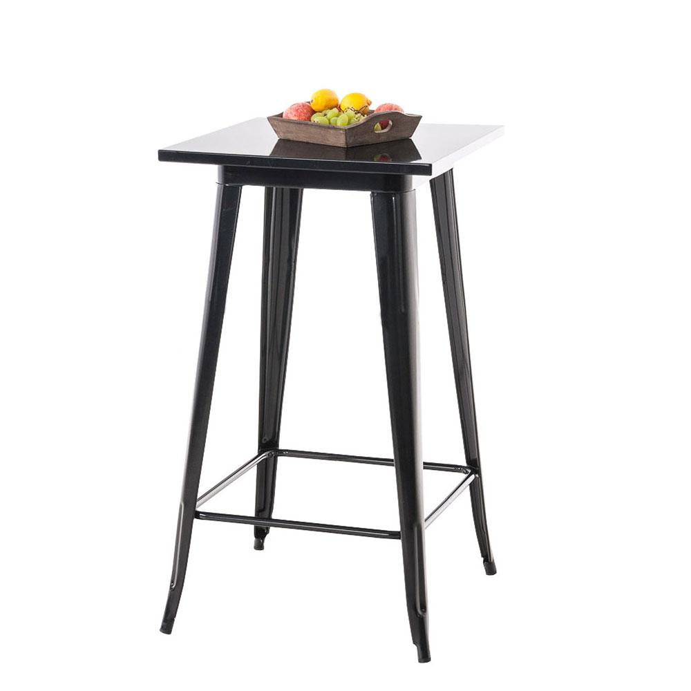 Barový stůl Goran, 106 cm, černá