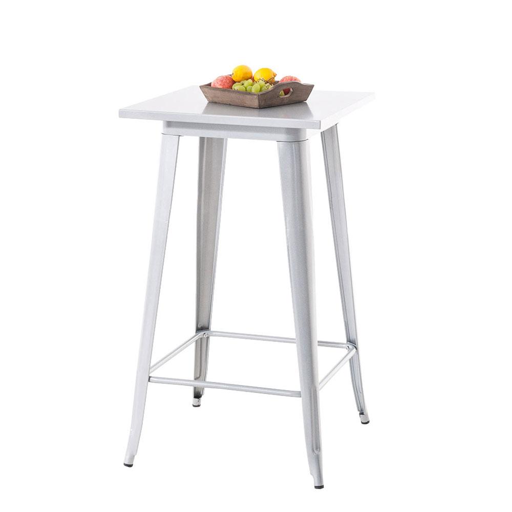 Barový stůl Goran, 106 cm, stříbrná